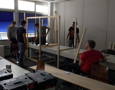 HBFS2: Aufbau der Werkstatt