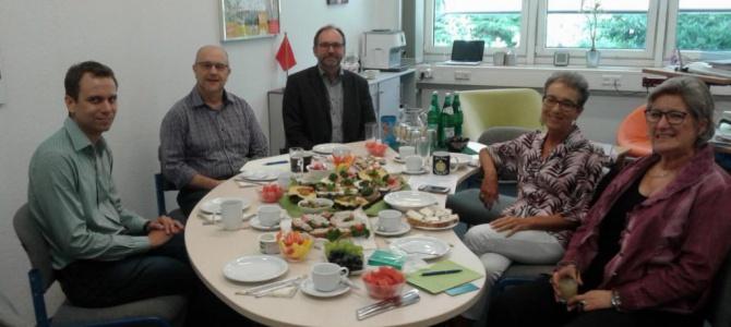 Erster Besuch von Vertretern der Andrea-Ponti-Schule