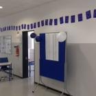 Blick auf das Wahllokal